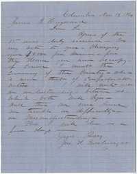 222b. John H. Boatwright to James B. Heyward -- November 14, 1864