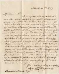 376. James B. Heyward to Daniel Blake Esq. -- April 21, 1857