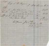 379. Receipt between A. McKenzie and Captain T.B. Ferguson -- July 7, 1862