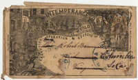 392.  Printed envelope supporting temperance