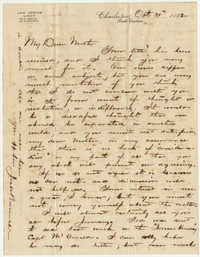 530.  Joseph Walker Barnwell to Catherine Osborn Barnwell -- October 31, 1882
