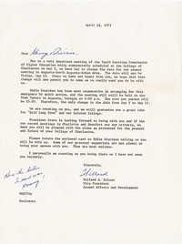 Letter from Willard Silcox, April 12, 1972