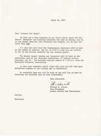 Letter from Willard Silcox, April 13, 1972