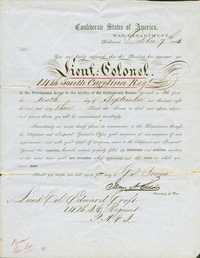 Appointment of Edward Croft to rank of Lieutenant Colonel