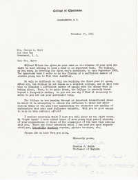 Letter from Charles Smith, November 11, 1971