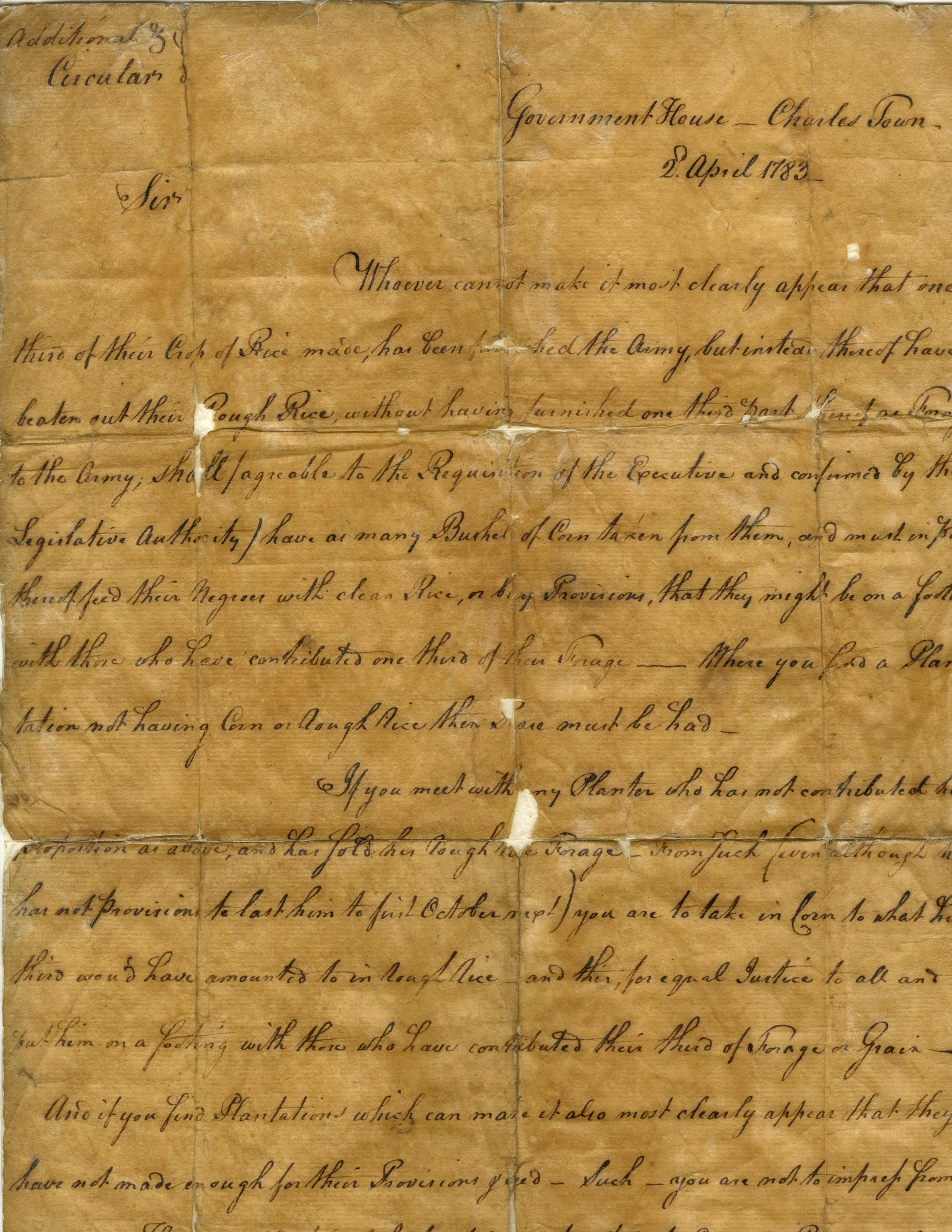 Circular letter, 1783 April 2 – From Guerard, Benjamin