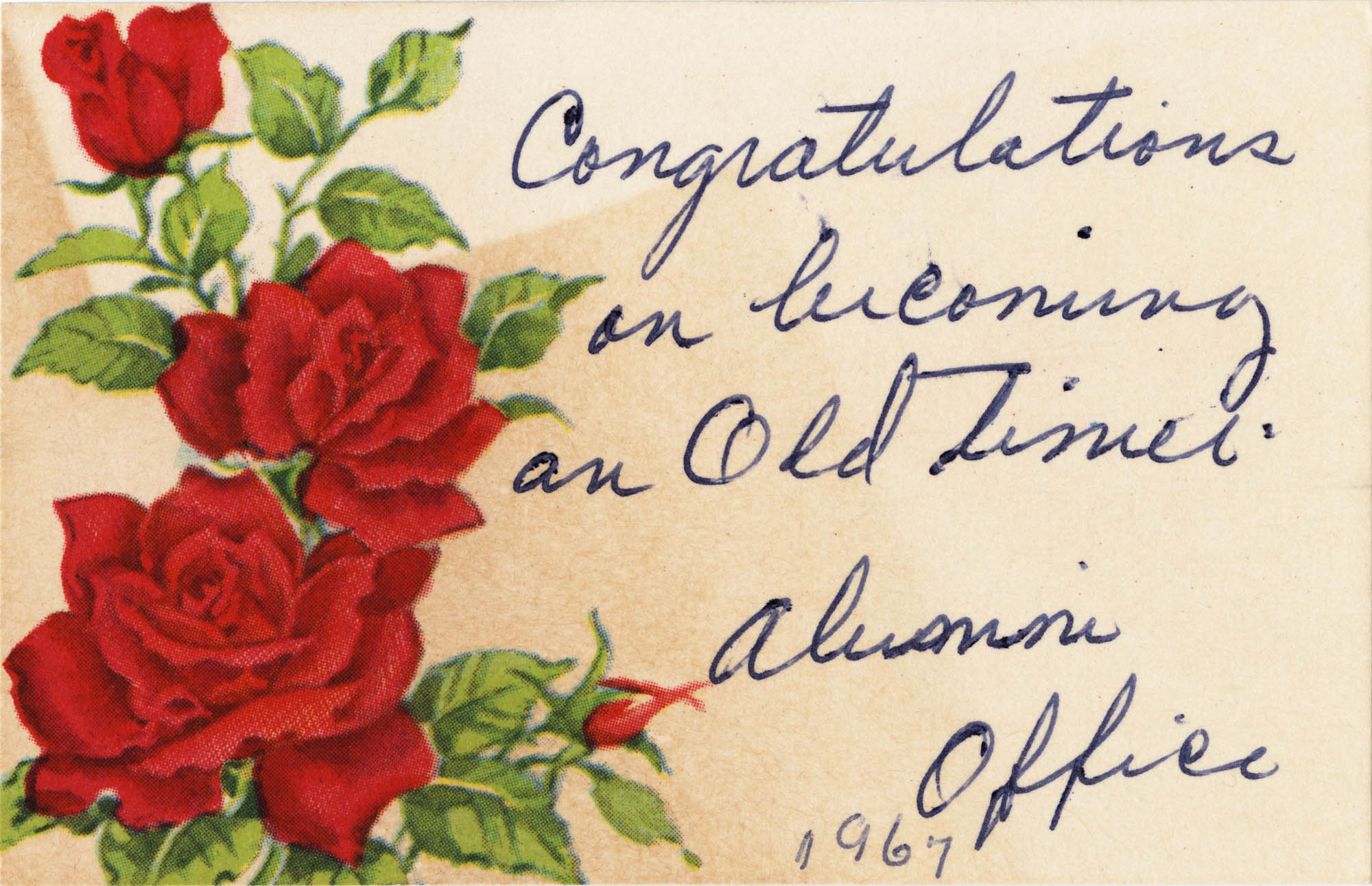 Congratulations on becoming an Old Timer