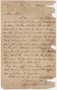 500.  Aunt to Elizabeth Barnwell -- 1863