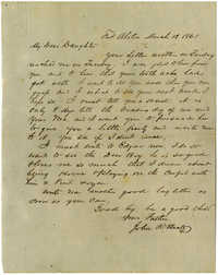 Letter from John R. Beaty to his wife Melvina, March 13, 1861