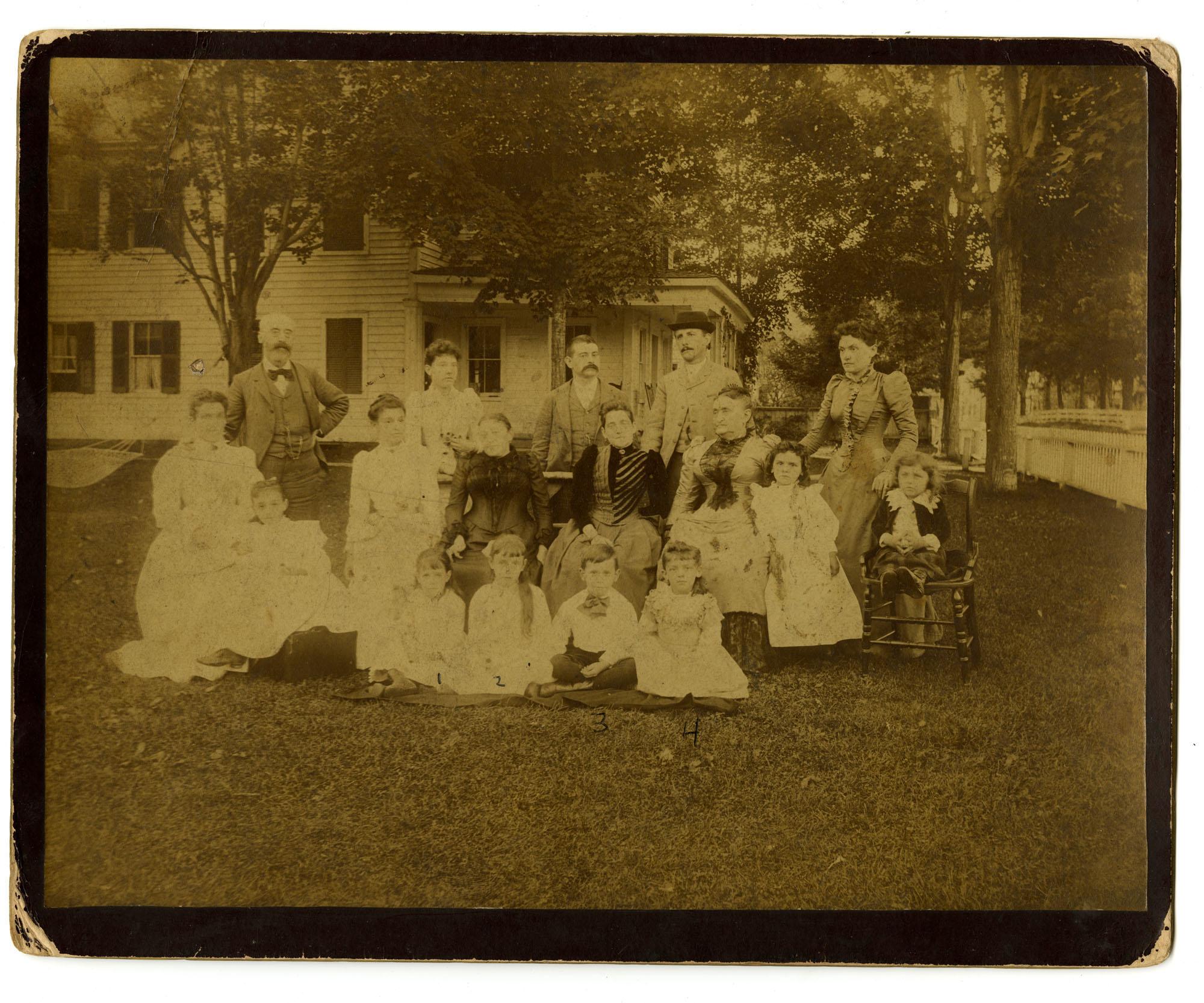 Pollitzer family photo in Griffon's Corner, Catskills Mountains