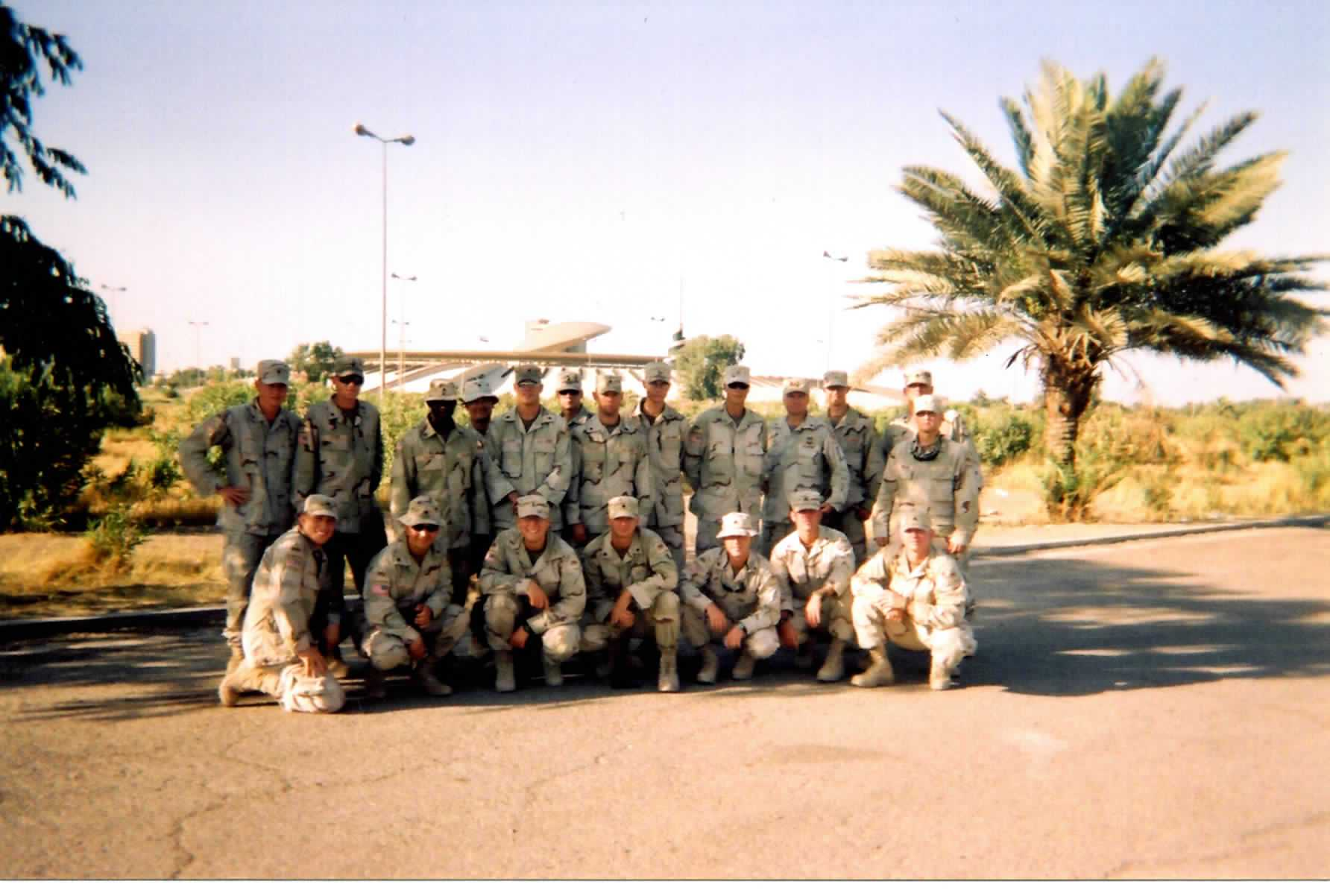 Kosovych and fellow soldiers in Baghdad's Green Zone