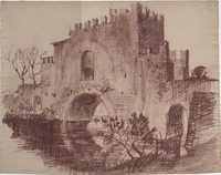 Battlemented Bridge, Italy