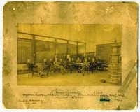 Men at Charleston Cotton Exchange (G.M. Pollitzer front right)