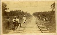 chasm to left of South Carolina railroad