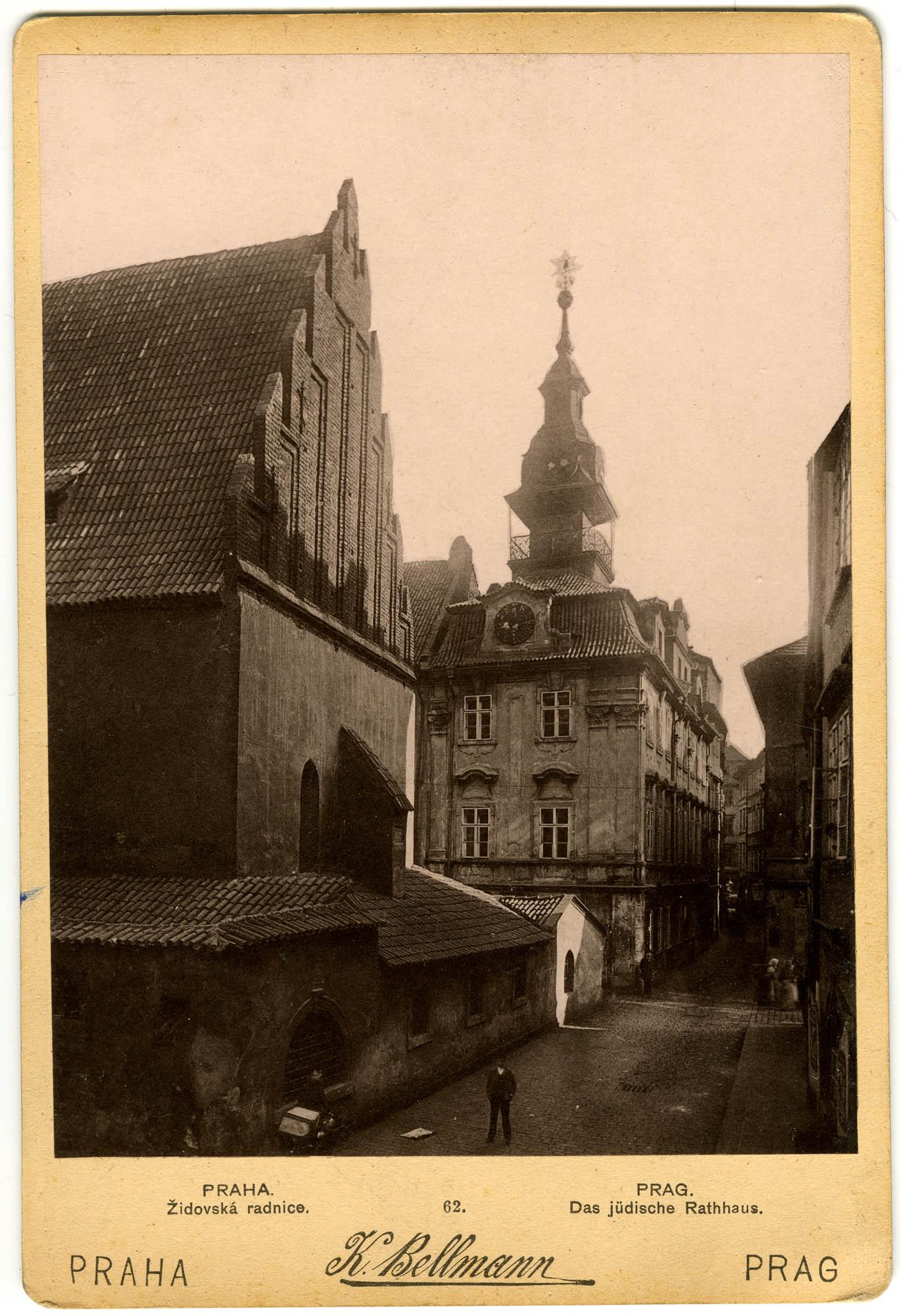 PRAHA. Židovská radnice. / PRAG. Das jüdische Rathaus.