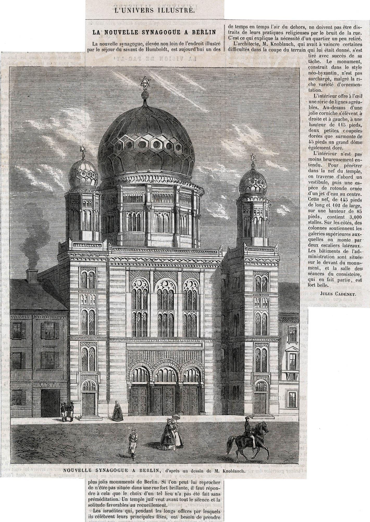 La nouvelle synagogue à Berlin