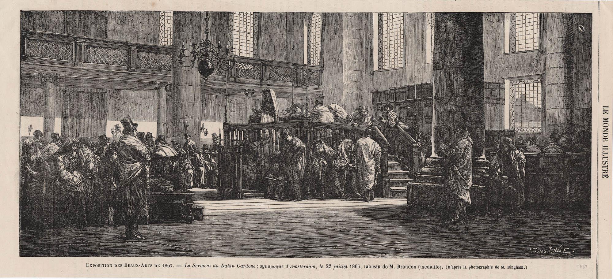 Le Serment du Daian Cardoze, synagogue d'Amsterdam, le 22 juillet 1866