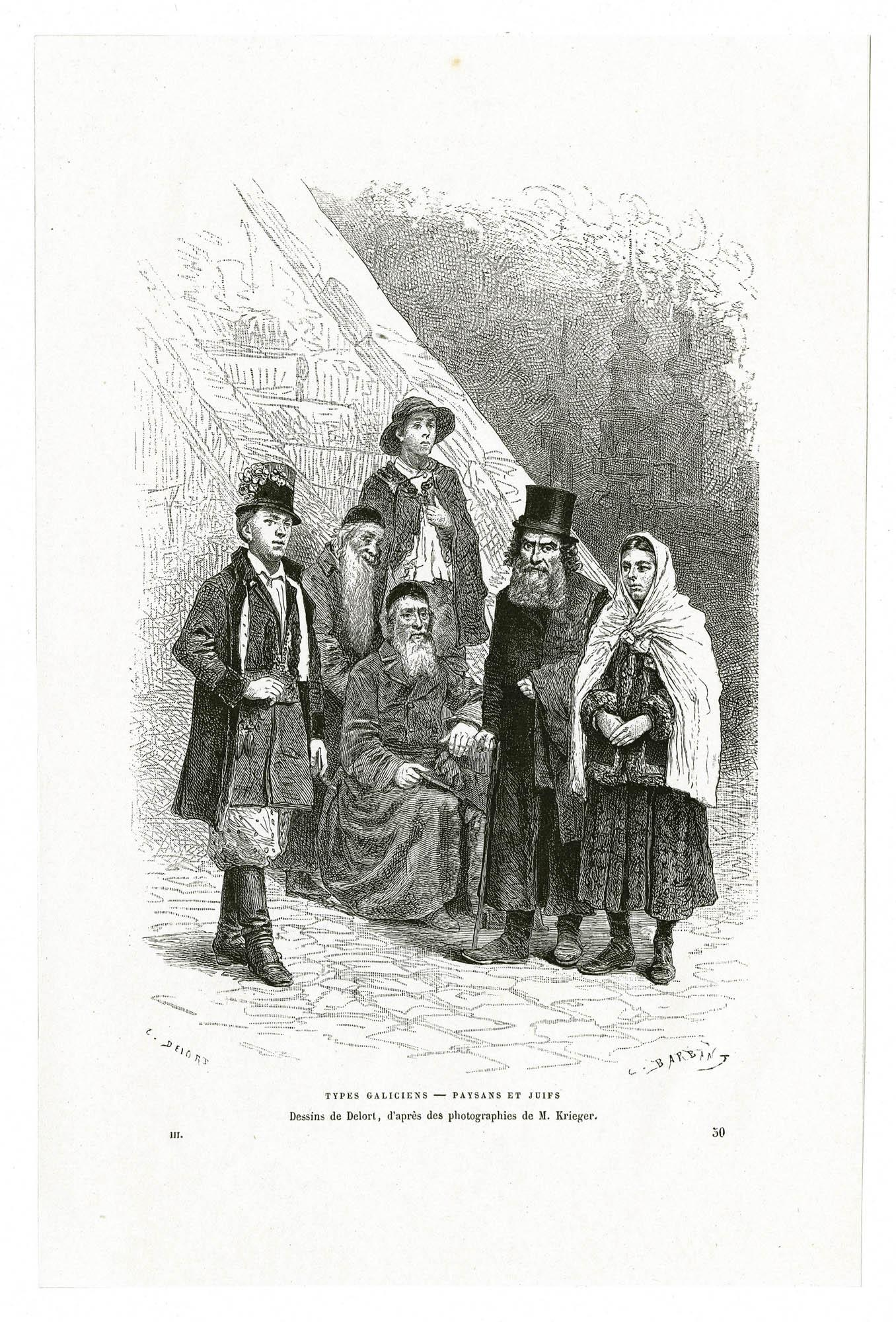 Types Galiciens - Paysans et Juifs