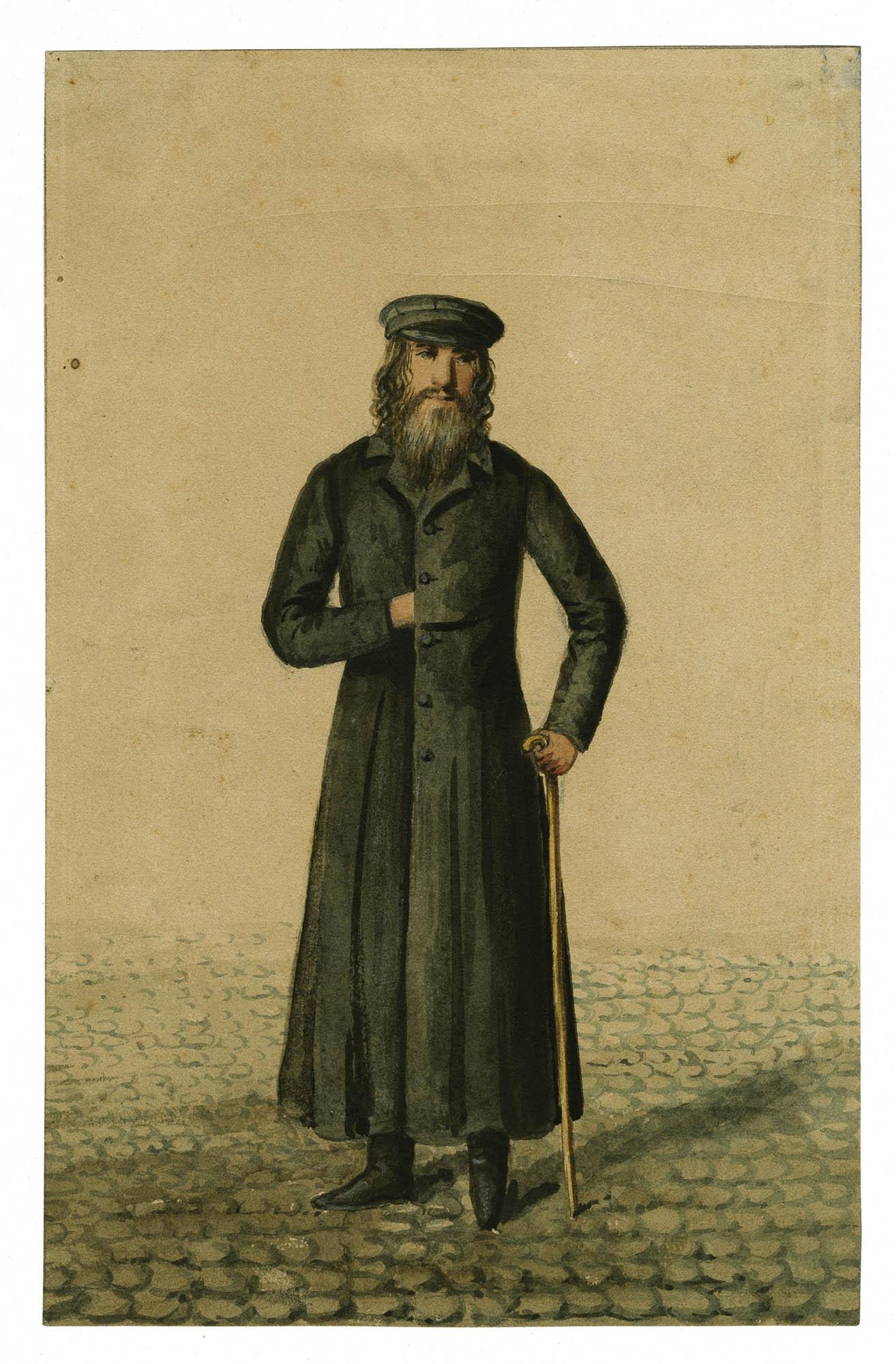 [Juif de Łowicz près Varsovie, costume de Sabbat]