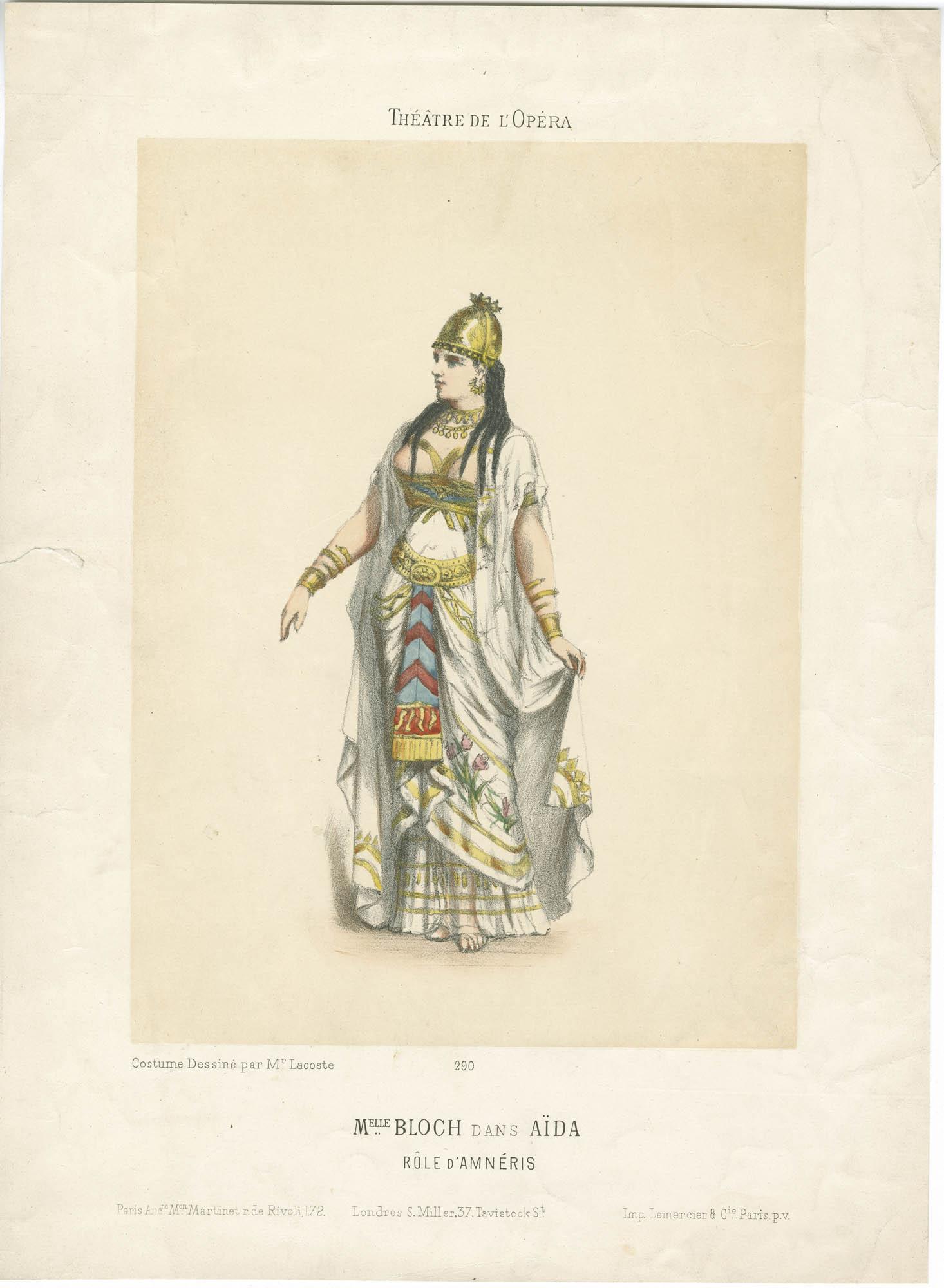 Mlle. Bloch dans Aïda, Rôle d'Amnéris