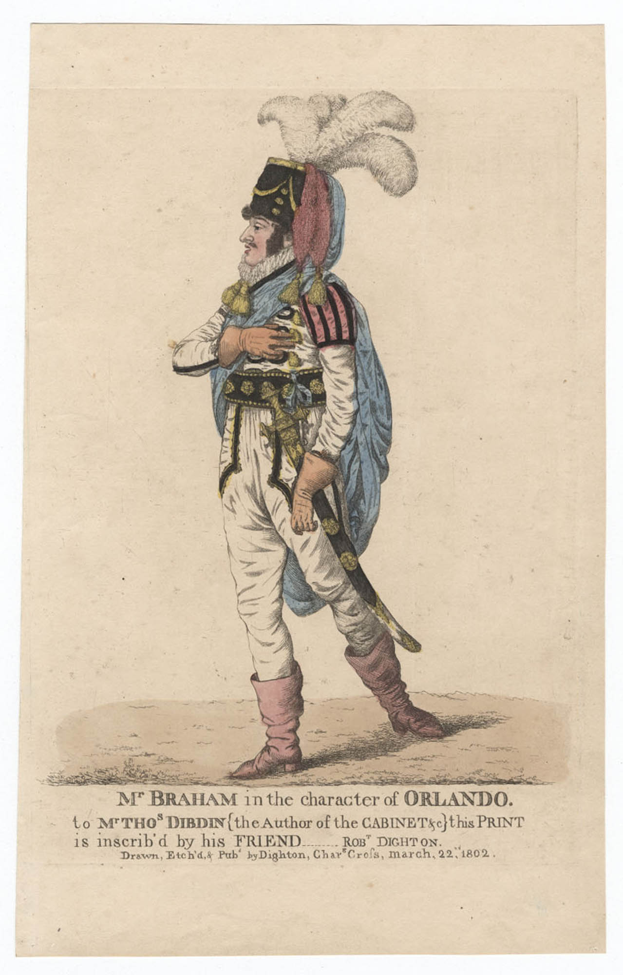 Mr. Braham in the character of Orlando