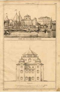 Ansicht der neuen Synagoge zu Dresden