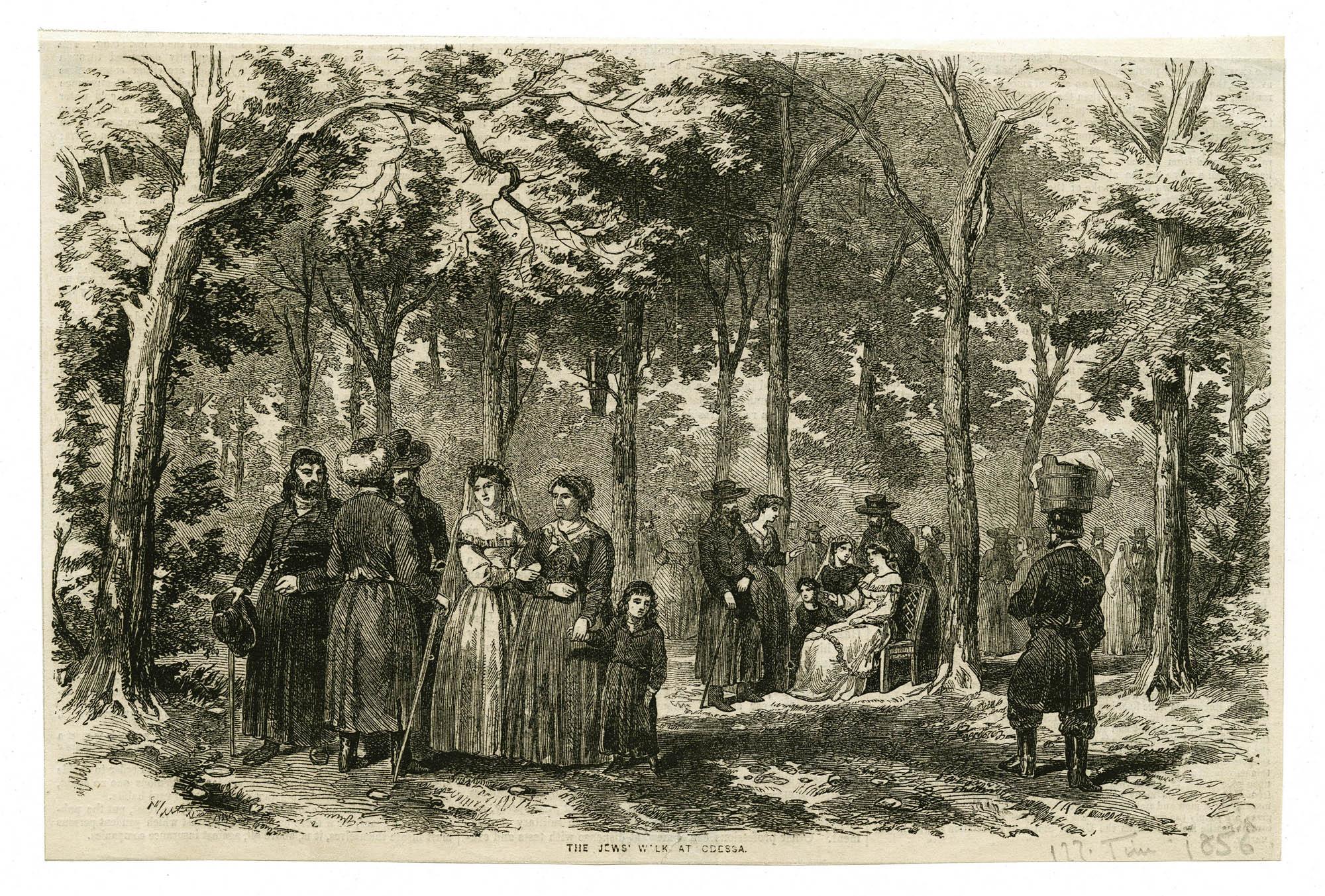 The Jews' walk at Odessa