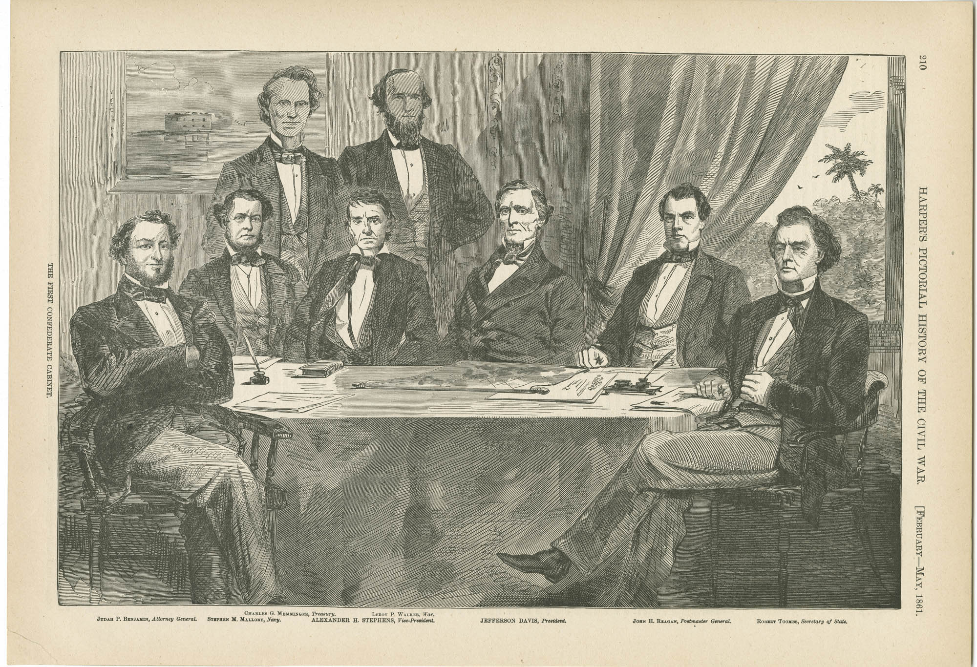 The first Confederate Cabinet