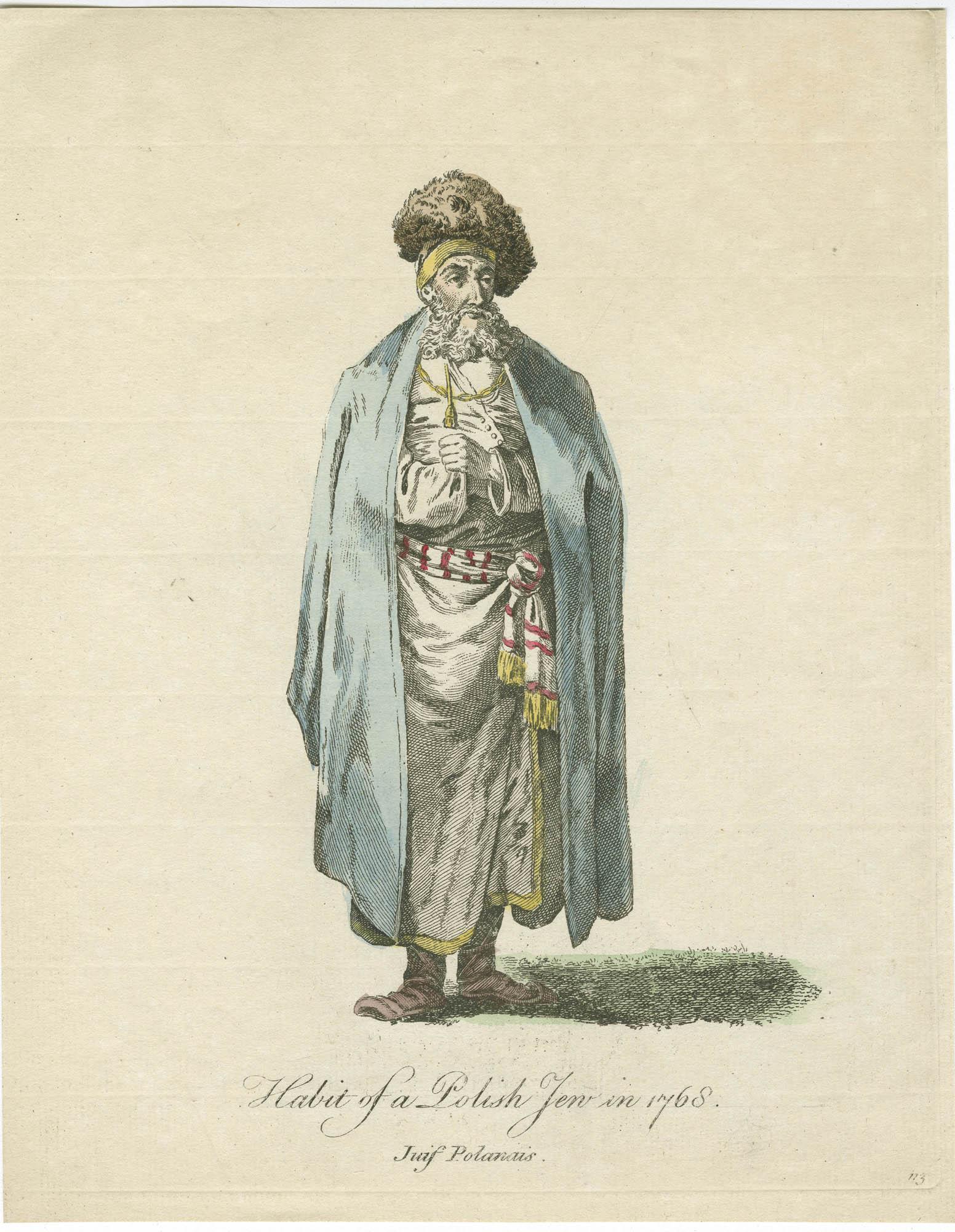 Habit of a Polish Jew in 1768 / Juif Polanais