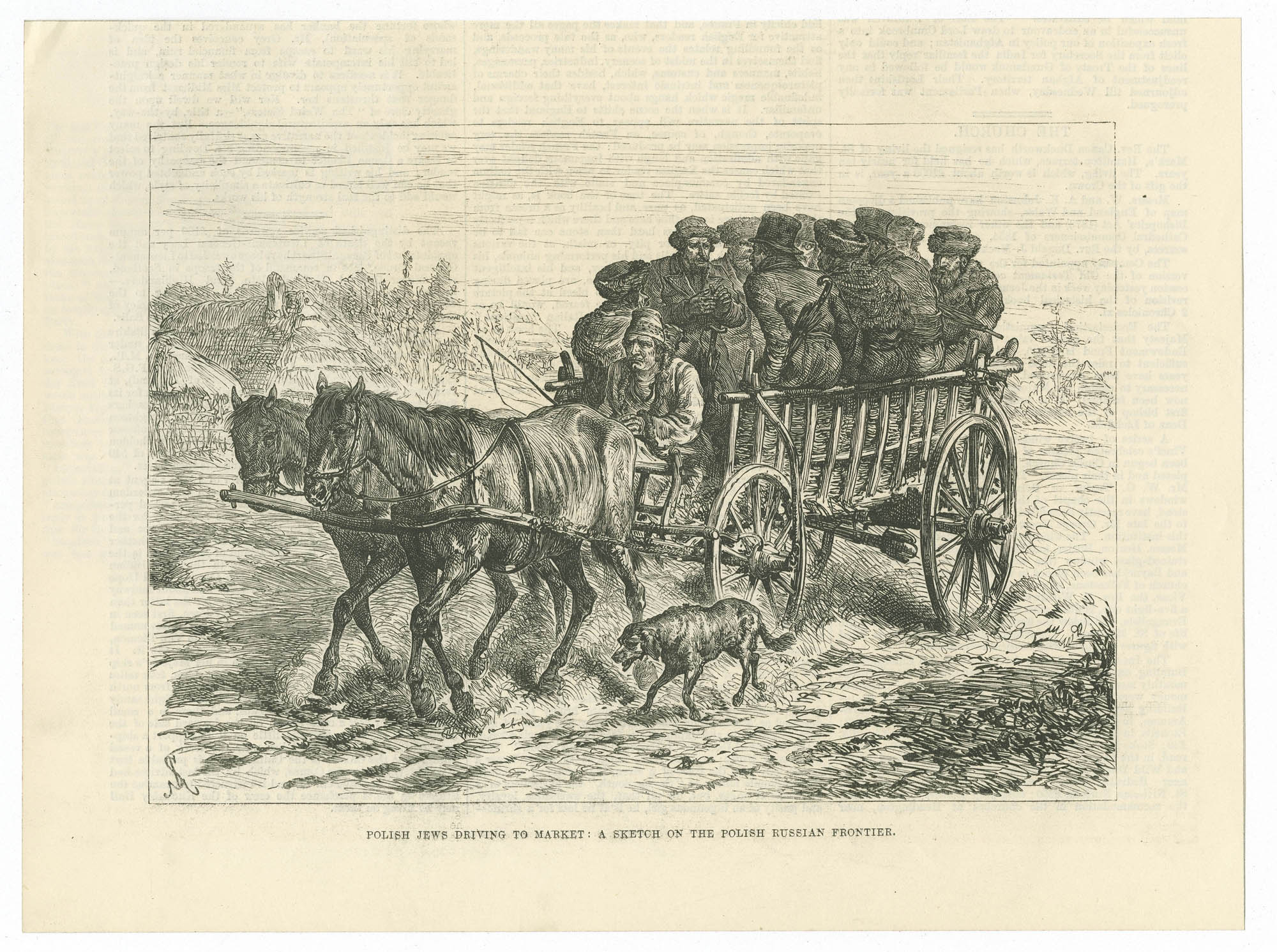 Polish Jews driving to market : a sketch on the Polish Russian frontier