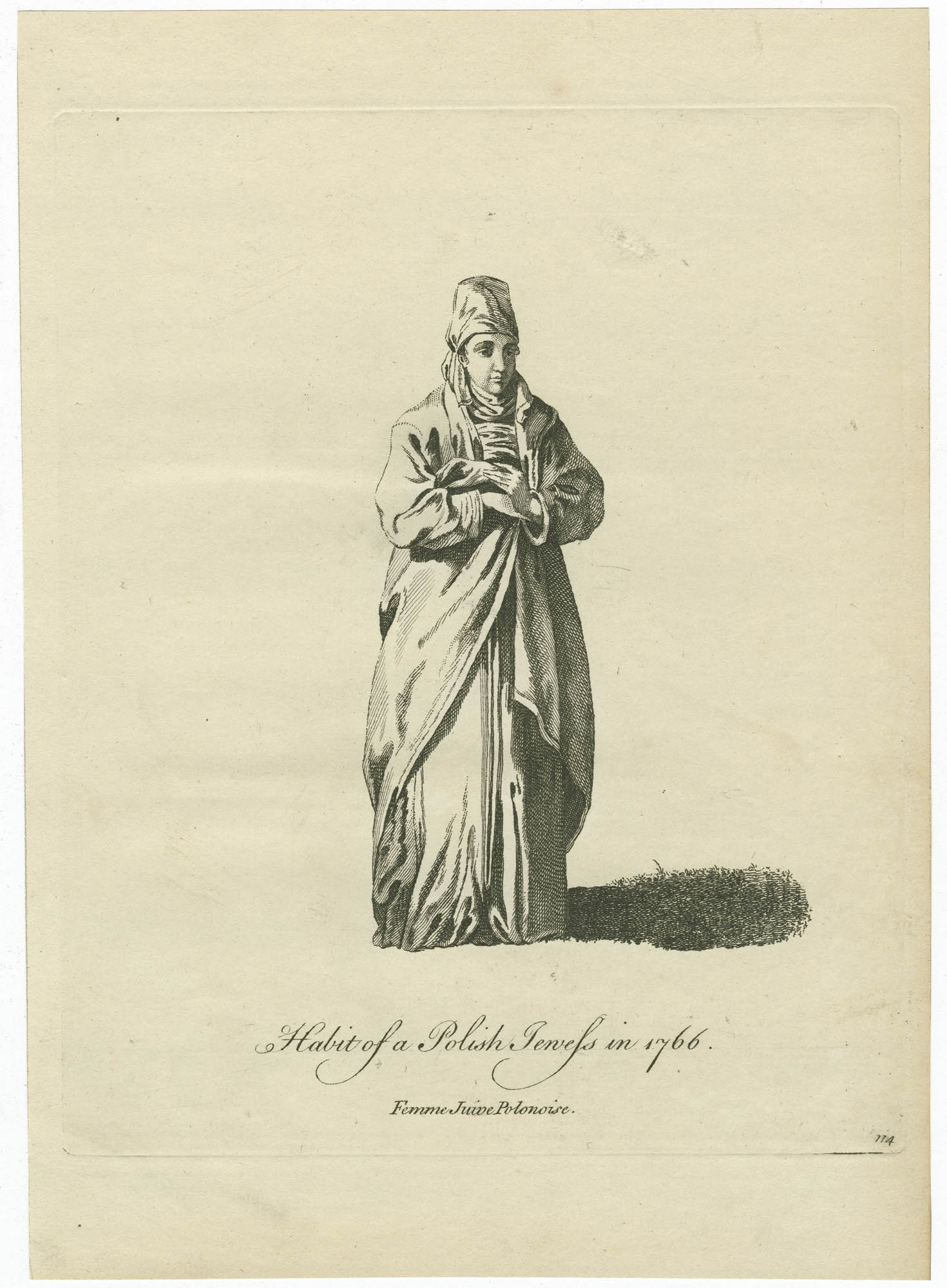 Habit of a Polish Jewess in 1766 / Femme Juive Polonoise