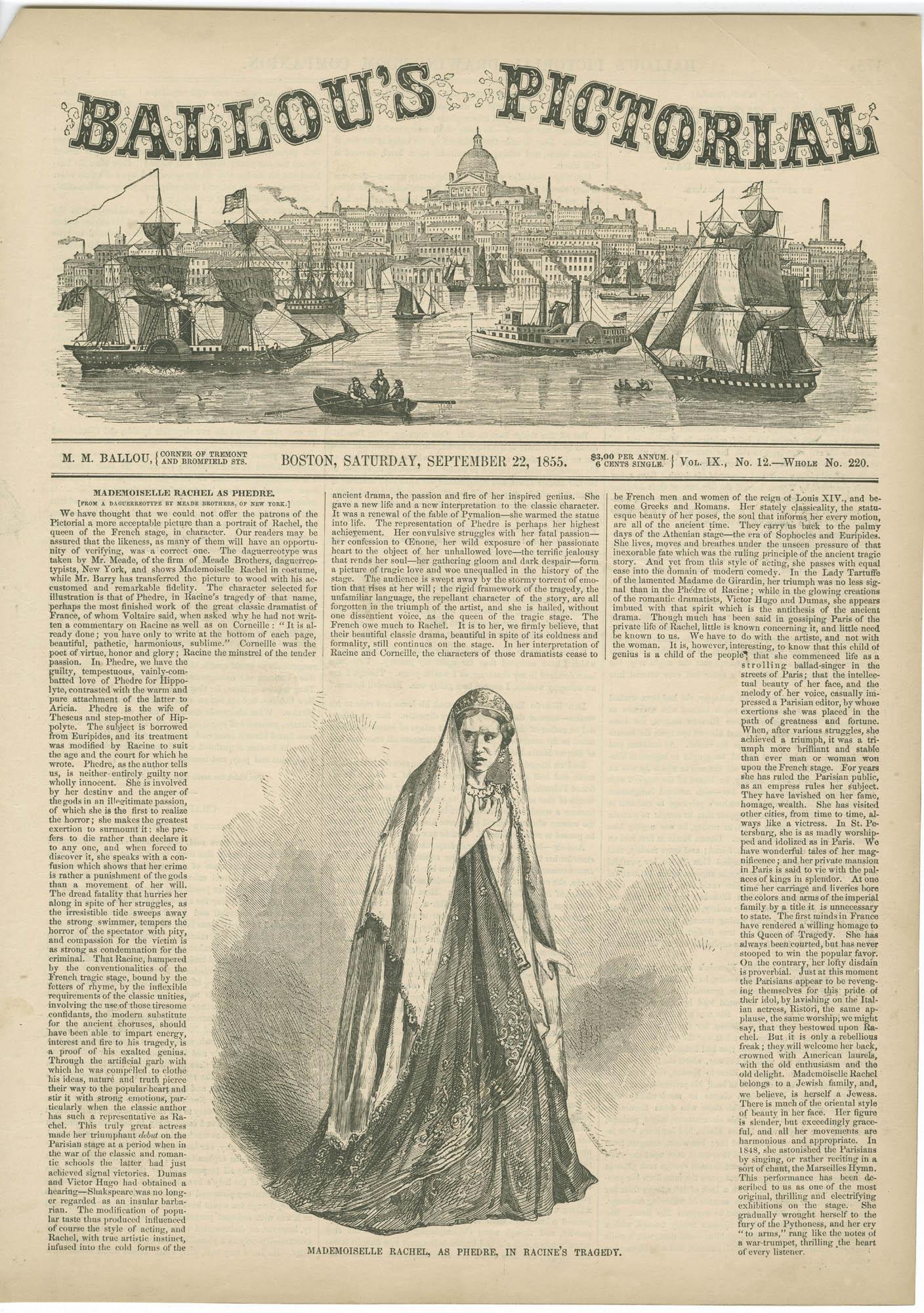 Mademoiselle Rachel, as Phedre, in Racine's tragedy