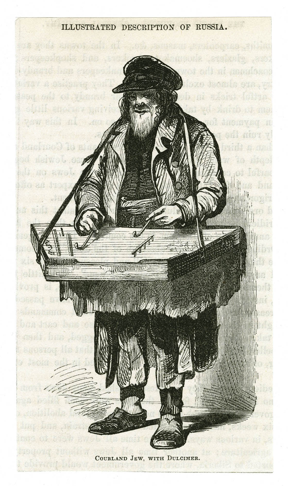 Courland Jew, with dulcimer