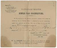 Lion Barend Paerl militia certificate, 1878