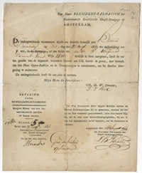 Lion Barend Paerl synagogue certificate, 1833