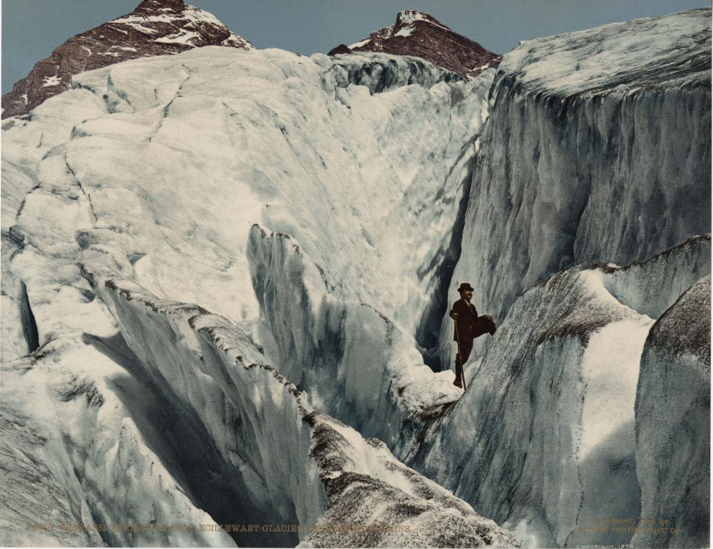 Crevasse Formation in Illecillewaet Glacier, Selkirk Mountains