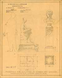4. Pedestals for sculptures, Gibbes Museum