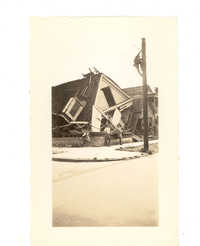 Home in Ruins After the 1938 Tornado