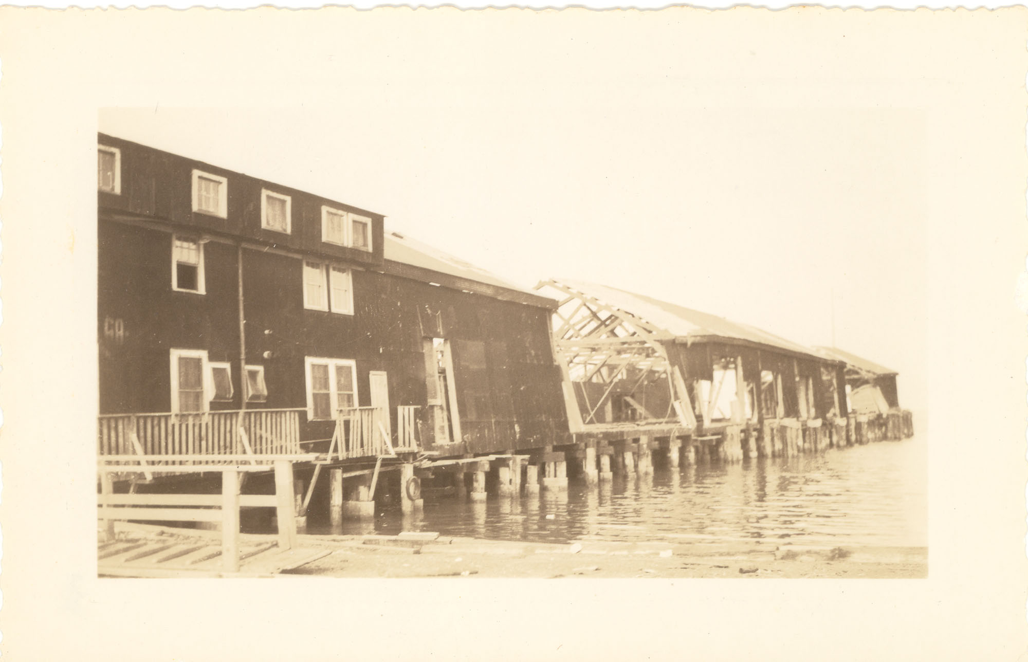 United Fruit Company Dock After the 1938 Tornadoes