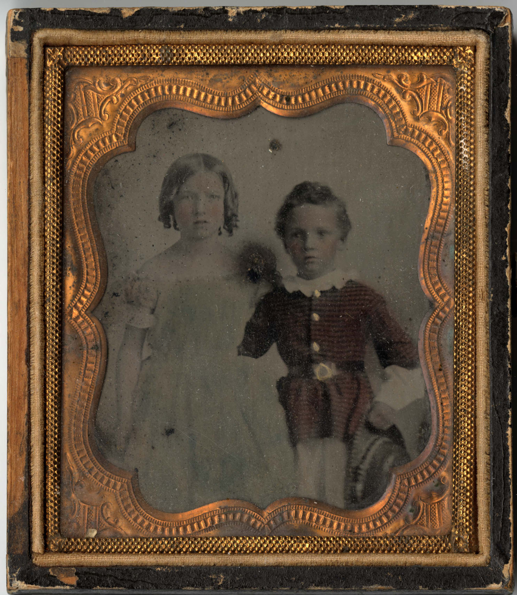 622.  Daguerreotype of Mary and Charles Barnwell -- ca. 1855