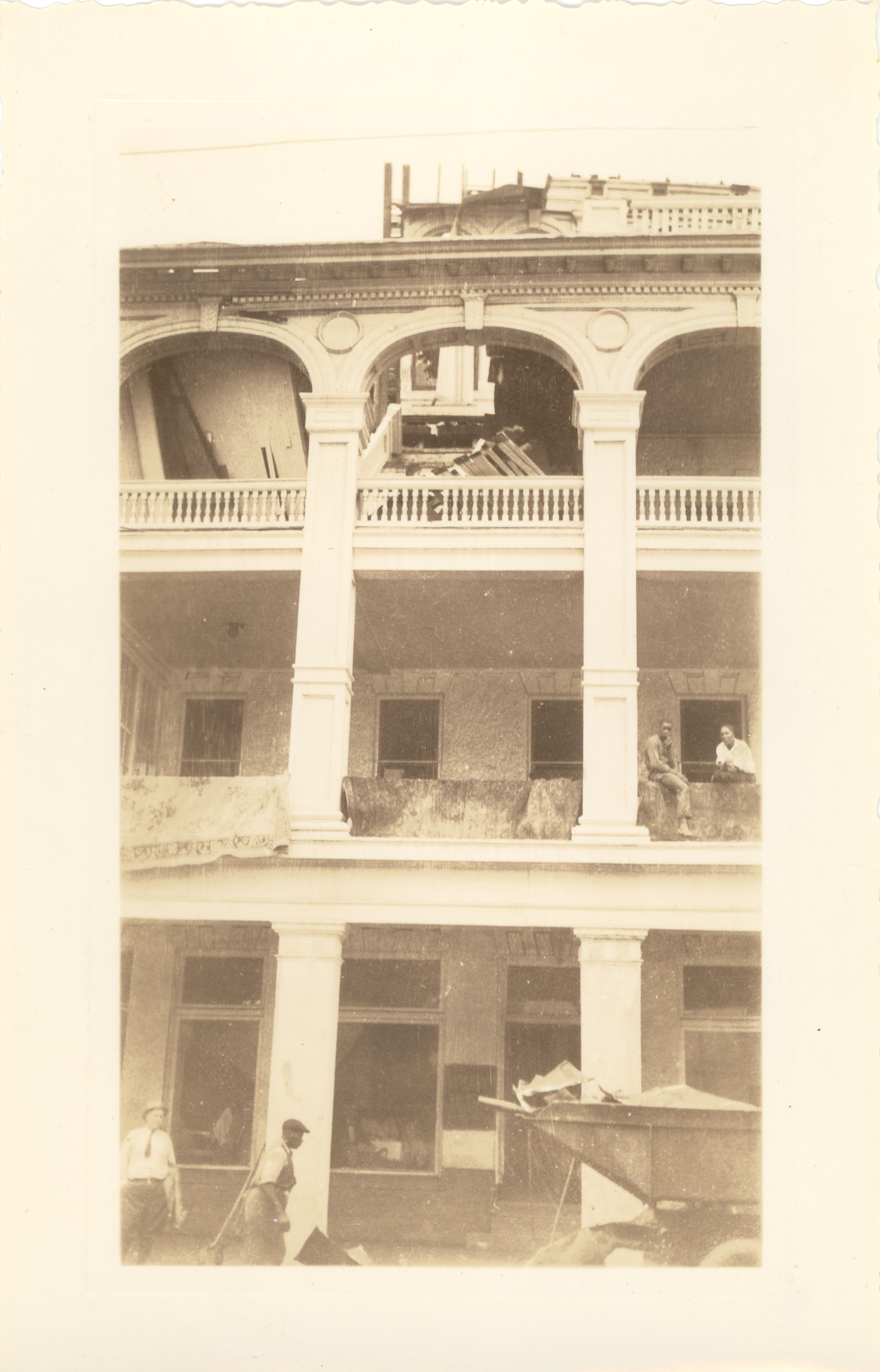 Timrod Hotel After the 1938 Tornadoes