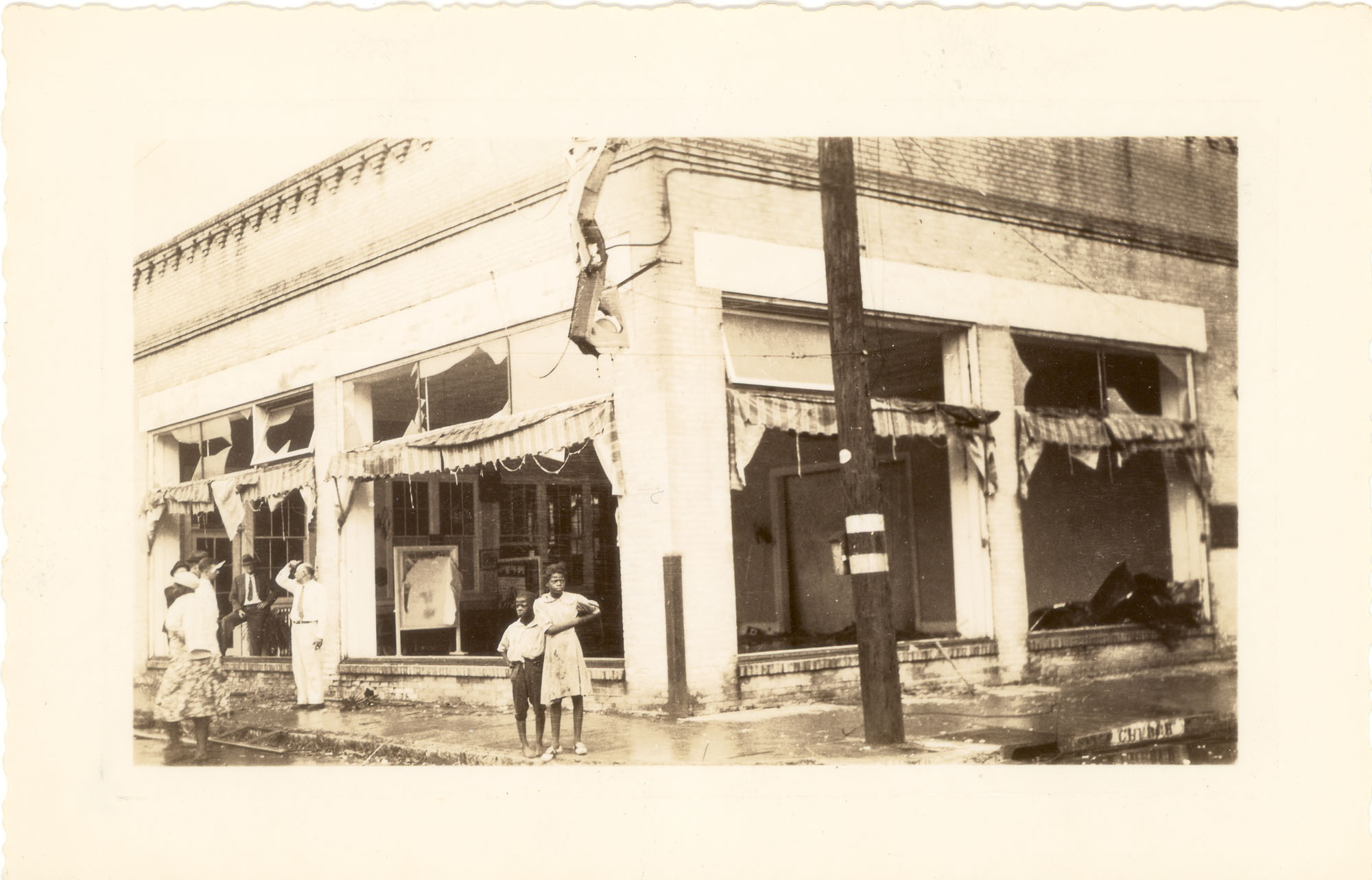Church Street Store After the 1938 Tornadoes
