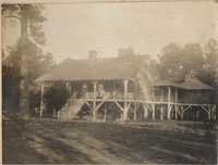 Frontal view of house on Halls Island