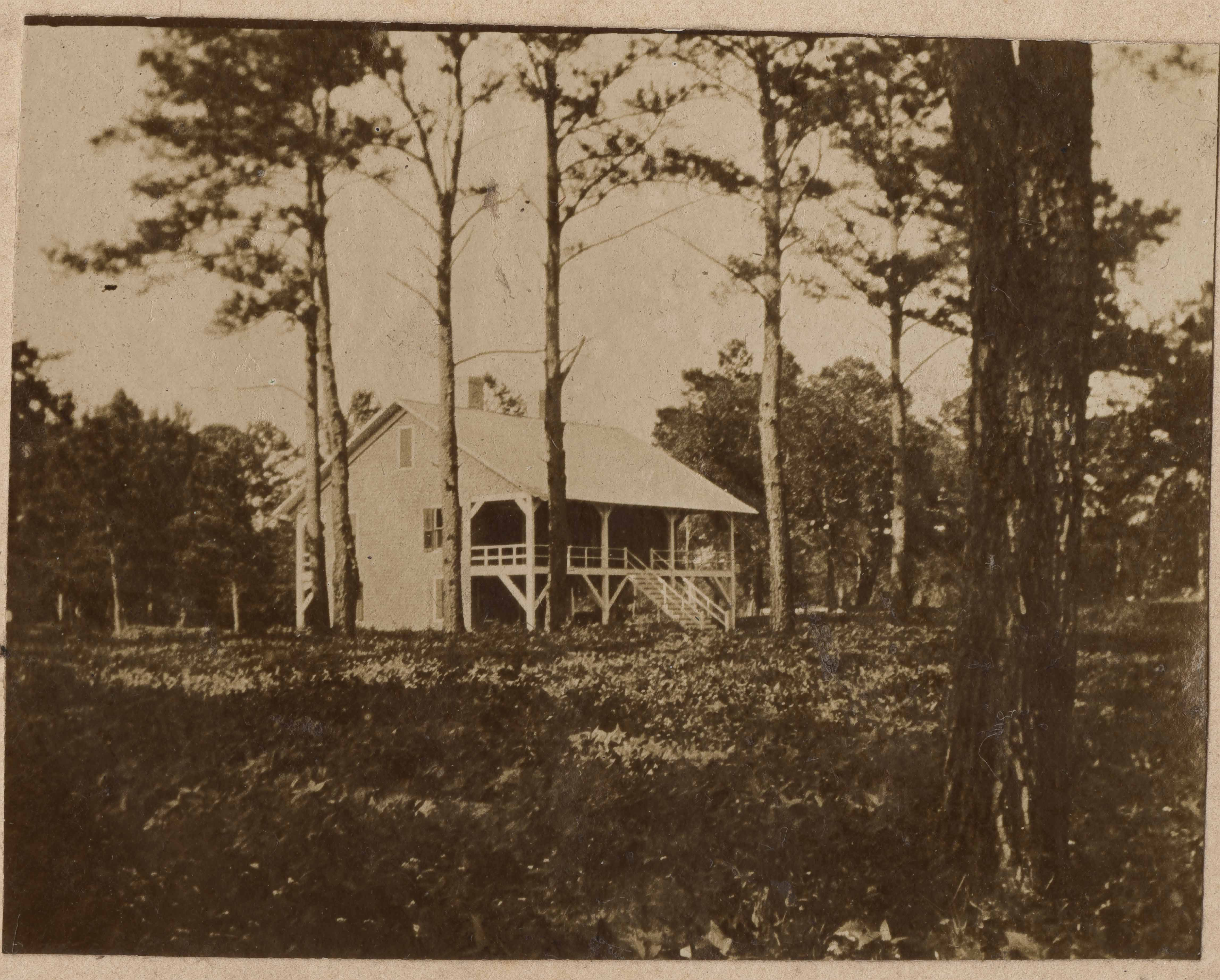 View of Main House on Halls Island from the left