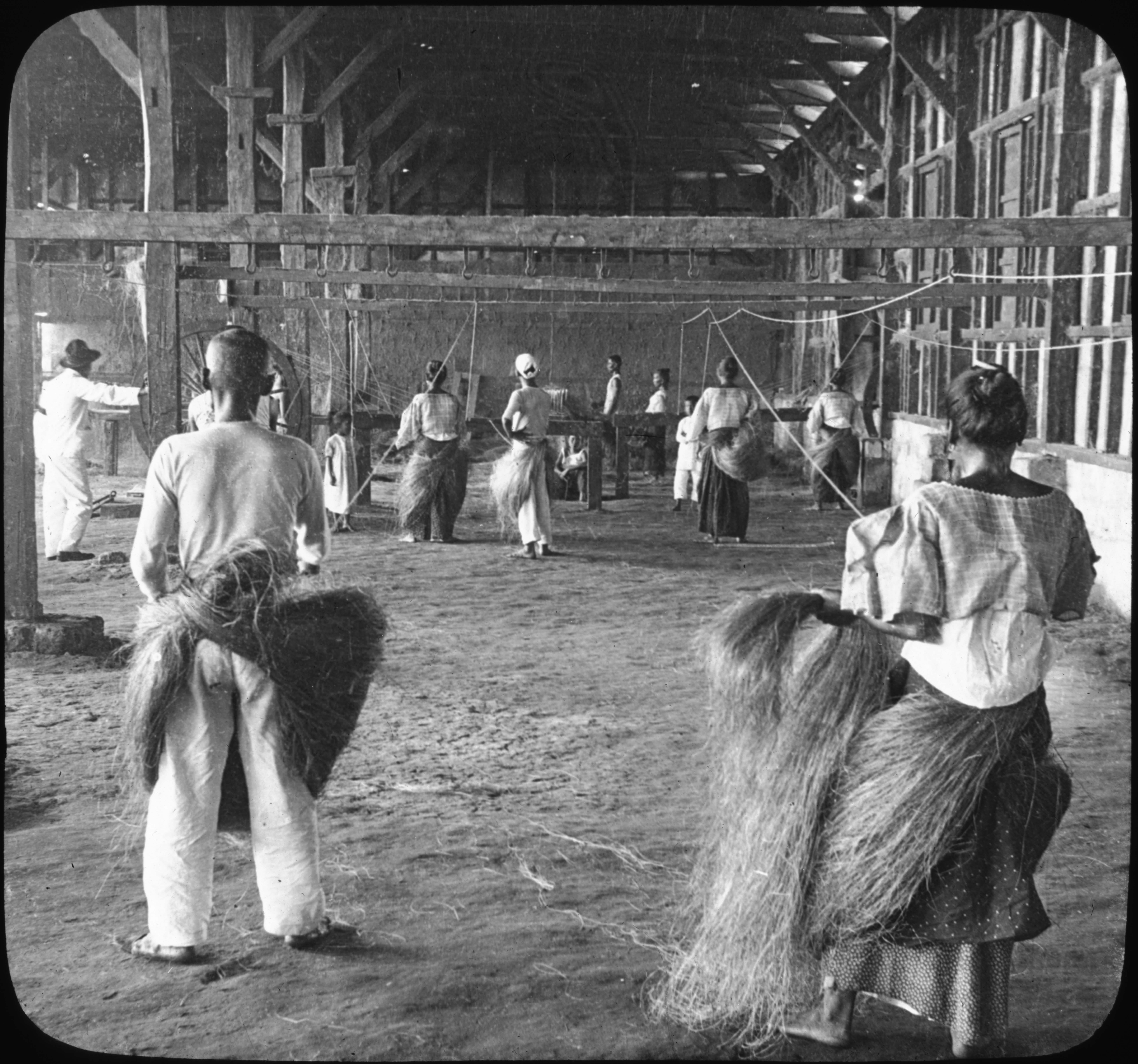 Manila Hemp Industry-Interior Native Rope factory, P.I.