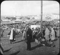 Market Scene, Tangier, Africa.