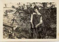 Miriam DeCosta Seabrook posed outside