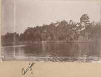 Misidentified as Beaufort; River scene near Halls Island
