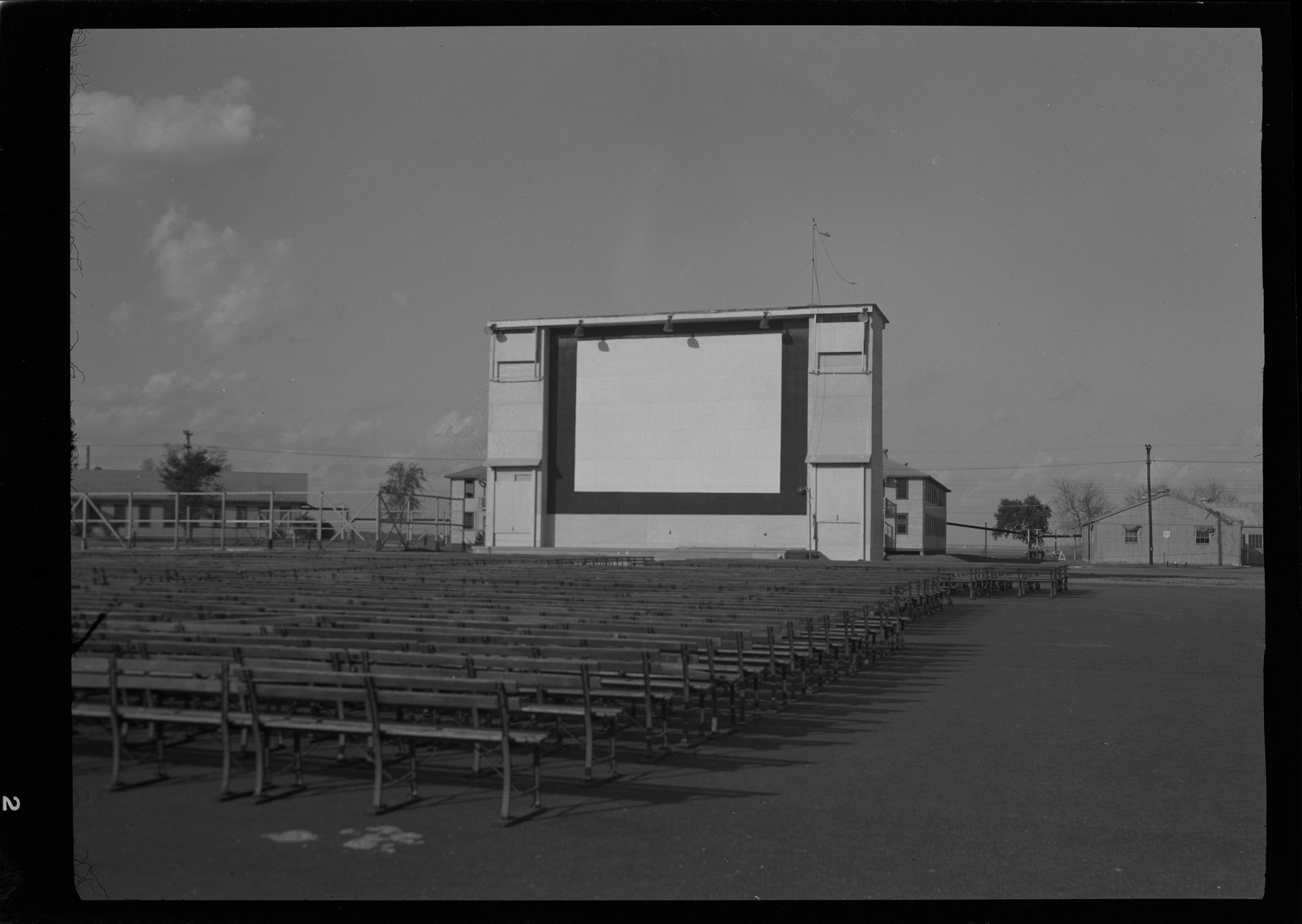 Outdoor Projection Screen at Parris Island