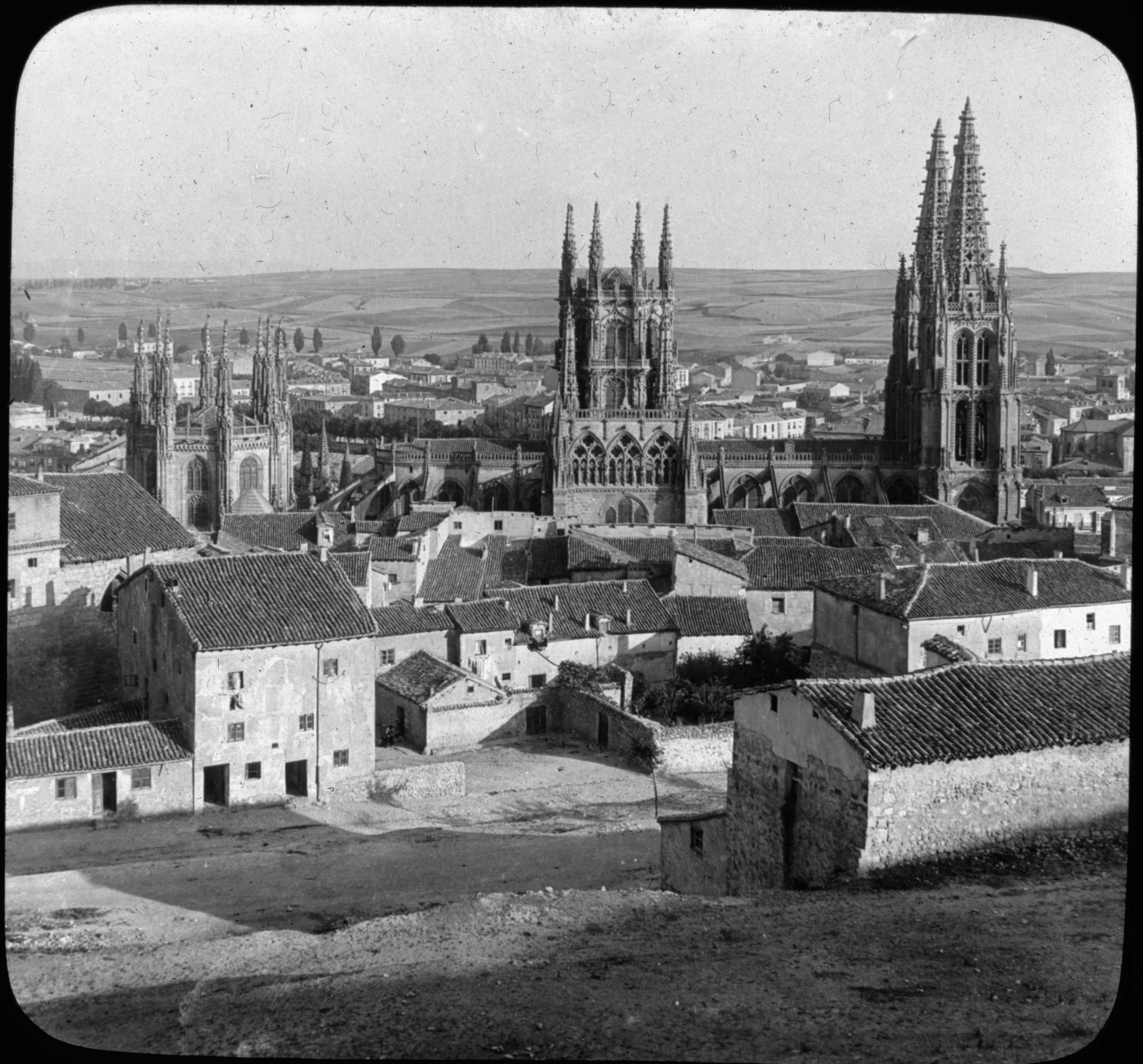 General View of Burgos, Spain.